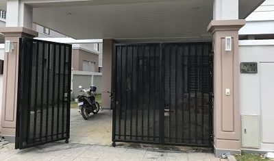 Perforated Metal Sheet for Gate opening for Villa at Borey Pheng Hout.