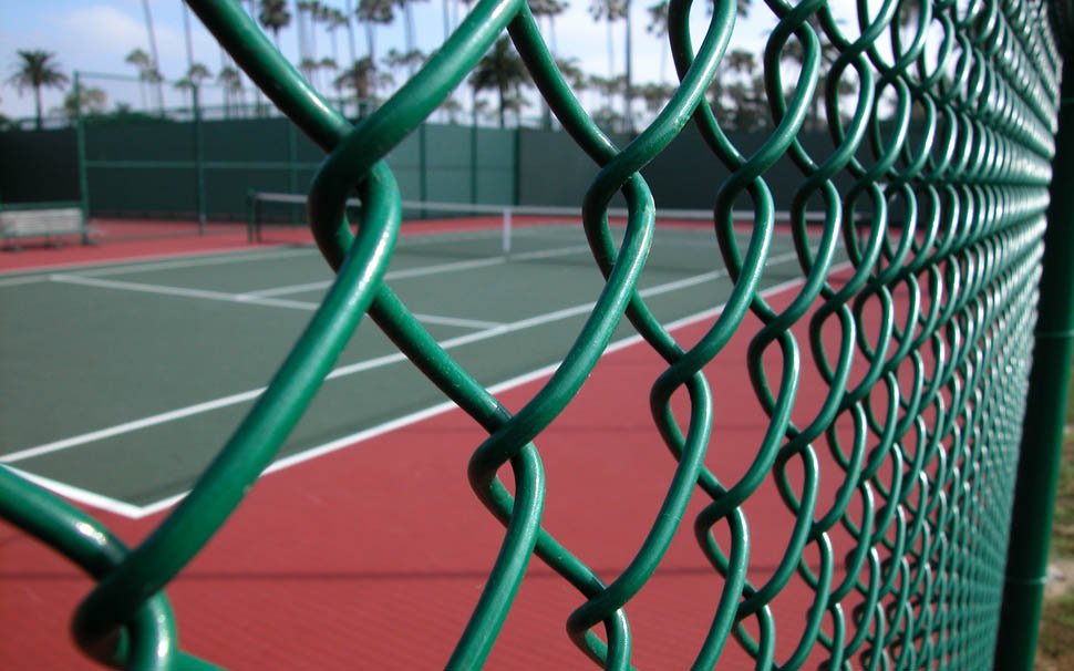 PVC coating on our chain link fence